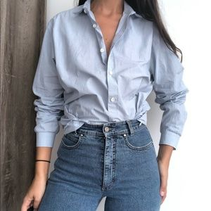 Theory oversized button down shirt L